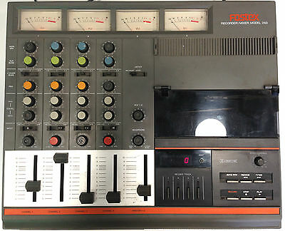 THE FOSTEX 250 CASSETTE FOUR-TRACK MACHINE Recorder Mixer Old but Working