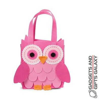 MAKE YOUR OWN FELT OWL BAG EASY TO DO SEWING KIT craft toy gift novelty childs