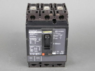 Square D 3-Pole, 150 Amp, 600V Circuit Breaker HG-150 - NEW Surplus!