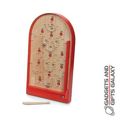 BAGATELLE GAME BOARD WOODEN CLASSIC RETRO TOY retro packaging gift novelty adult