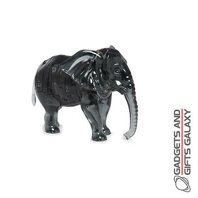 3D 40 PIECE JIGSAW CRYSTAL PUZZLES ELEPHANT Adults toys and games