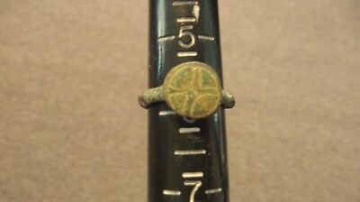 Ancient Roman Authentic Ring Constantine Era Artifact #4
