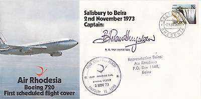 Rhodesia : Air Rhodesia Boeing 720 First Flight Cover Salisbury-Beira (1973)