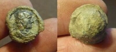 Trajan very rare roman lead seal,Excellent quality.18mm x 11mm..12.5 gms.