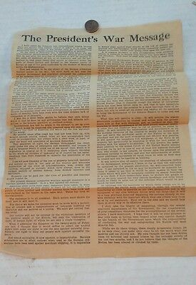 1917 The Presidents War Message