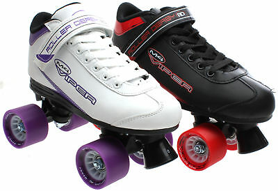 Roller Derby Mens/Womens Viper M-4 Quad Roller Skates Black Or White UK4 - UK11