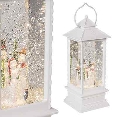 Brand New LED Water & Glitter Snowman Lantern - With Cool White Designing  89240
