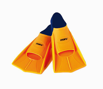 Maru Orange Training Flippers. Swimming Fins. Maru Flippers.Flippers. All Sizes