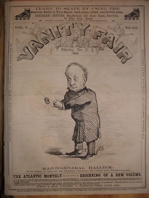 1862 Extremely Rare Vanity Fair ~ Major-General Halleck ~ Abraham Lincoln