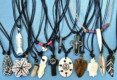 15 x ETHNIC TRIBAL  PENDANTS MENS BOYS WOMENS GIRLS NECKLACES   SET 123