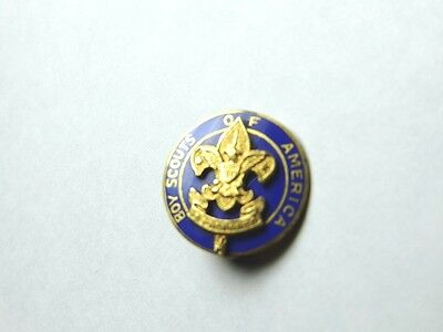 Boy Scouts Of America Pin BSA Blue Enamel Gold Filled 1930's