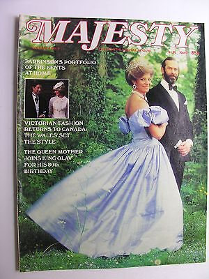 MAJESTY MAGAZINE Vol 4 No 5 Sept 1983 Duchess of Kent, Queen Mother & King Olav