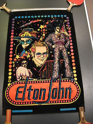 Elton John blacklight Poster 1975 #B6