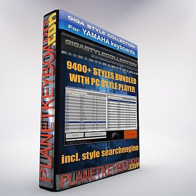 9480 NEW Styles for YAMAHA TYROS 4 & TYROS 5 + PC Style Player Online Edition