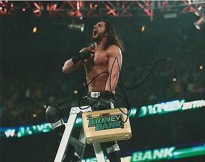 *signed*  Seth Rollins - 8X10 Photo  (Wwe - Raw)  Autographed