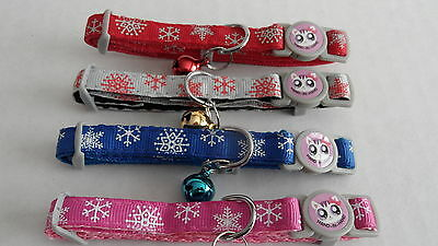 Christmas Snowflake Cat Kitten Safety Collar