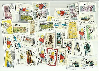 Spain ATM - Automatic machine labels postage stamps x 35 (Batch 1)