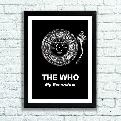 The Who Print My Generation Lyrics Record Deck Pete Townshend Daltrey Moon
