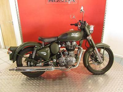 2016 '16' Royal Enfield Bullet 500 Classic Green Camouflage Motorcycle
