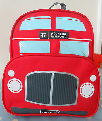 NEW with tags - Red Double Decker Bus Boys Toddler School Rucksack Backpack