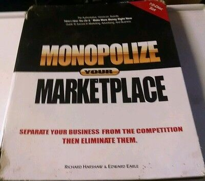 MONOPOLIZE YOUR MARKETPLACE COMPLETE 10 Disc SET Plus Workbook Harshaw & Earle