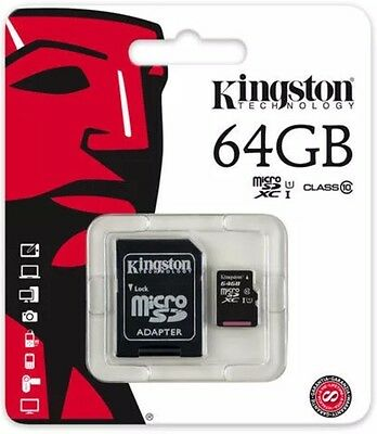 Kingston 64 Gb Micro Sd Card SDXC  Class 10 45mb/sec With Adopter