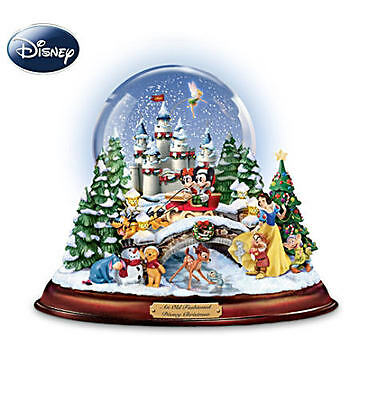 Disney Musical Snowglobe With Lights And Swirling Snow