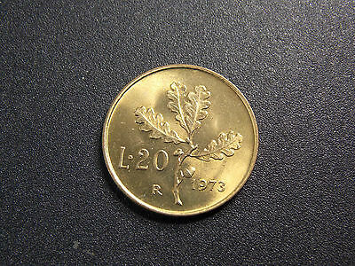 coins.FROM. italy 20 LIRE 1973. R