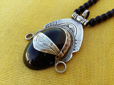 Handmade African Tuareg Necklace Ethnic Tribal Jewelry Silver Gypsy Hippy Boho