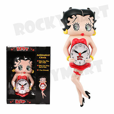Betty Boop Animated Pendulum ( CLOCK ) Eyes Move/Leg Swings RM1237