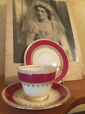 VINTAGE CUP SAUCER PLATE TRIO CSP HIGH AFTERNOON TEA ENGLAND AYNSLEY ~*so Pretty
