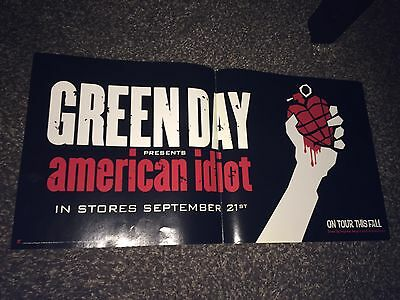 """Green Day -American Idiot """"On Tour This Fall"""" 2004 Folded Promo Poster[12x24]"""