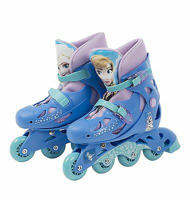 NEW Official Disney Frozen Inline Skates Shoe Size 13J-3 Adjustable