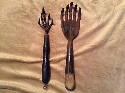 Lot of 2 Vintage Garden Claws