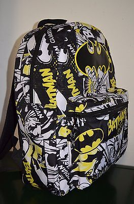 NWT Batman Comic 16'' Backpack Book Bag Tote Full Size New with tag