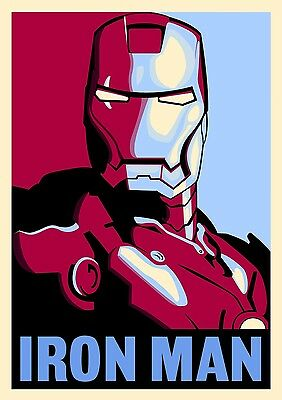 Iron Man Poster - Hope/Obama Style - Awesome Poster from IM2, Marvel's Avengers!