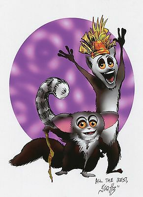Madagascar Julien Cute Fun Signed 8.5x11 Tribute Print With COA