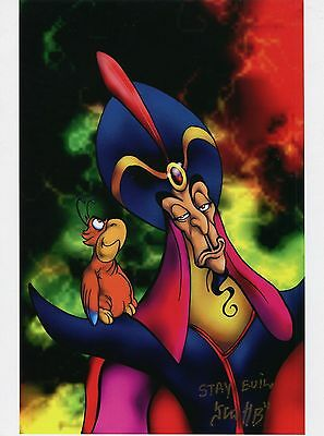Aladdin Villian Jafar Fun Cool Signed 8.5x11 Tribute Print With COA