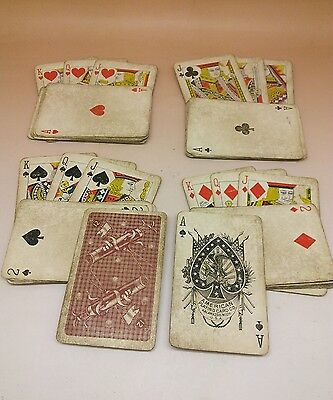 Antique Playing Cards American Kalamazoo Golf Clubs 12 c1900