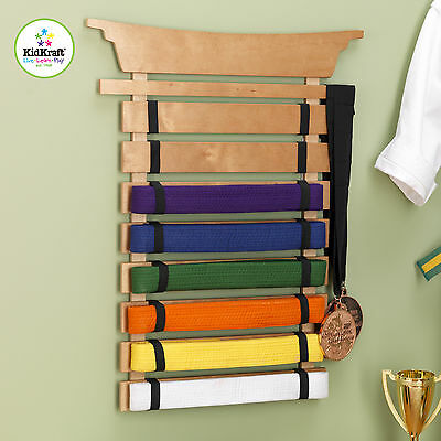 Martial Arts Belt Holder Fits 8 Belts Kidkraft 14245