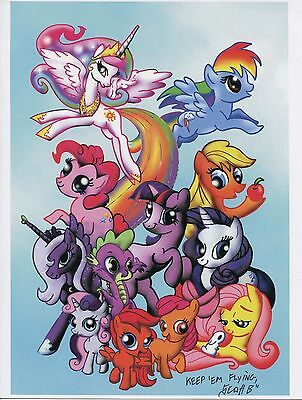 My Little Pony Cast Cute Fun Signed 8.5x11 Tribute Print With COA