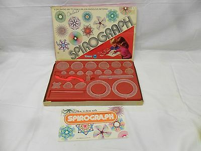 Vintage 1971 SPIROGRAPH Drawing Design Toy by Kenner w All Parts & Book No pens