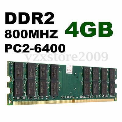 4GB Memory RAM DDR2 800Mhz PC2 6400 240 Pins Dimm For AMD System Motherboard CPU