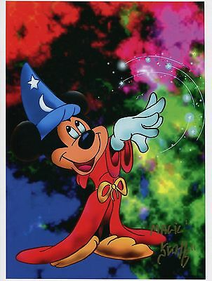 Fantasia Mickey Mouse Fun Signed Tribute 8.5x11 Color Print With COA