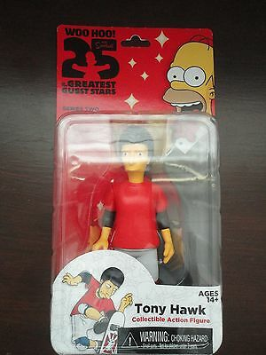 "Simpsons 25th Anniversary - Series 2, TONY HAWK 5"" Figure by NECA ,New"