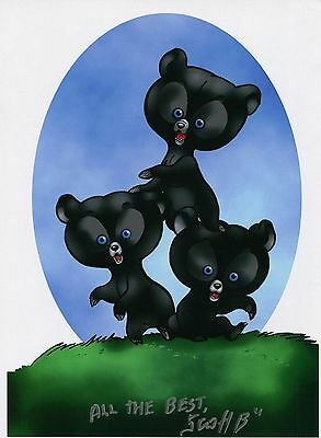 Brave Bears Cute Fun Signed Tribute 8.5x11 Color Print With COA