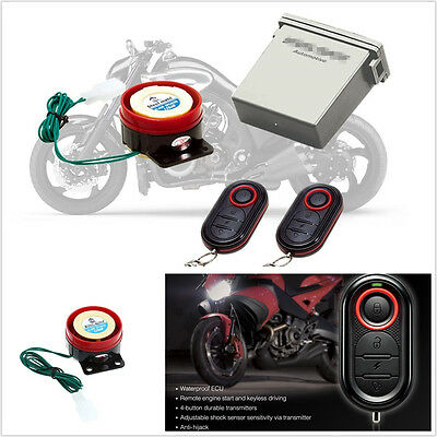 Waterproof Motorbike Antitheft Alarm Security System Remote Control Engine Start