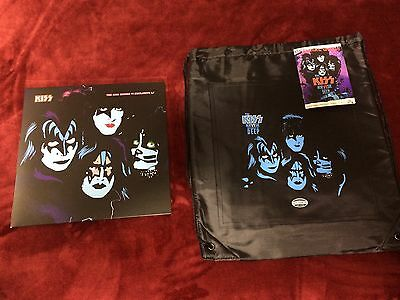 Kiss Kruise Vi 6 Backpack Red Vinyl Creatures Deep Night Lp Album Dogtags Signed