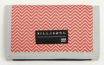 "Brand New + Tags Billabong Boys Mens Tri-Fold Wallet ""atom"" Navy Orange"
