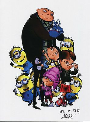 Despicable Fun Signed Tribute 8.5x11 Color Print With COA
